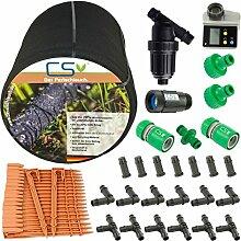 50m CS Perlschlauch Startup Z13 mit Bewässerungscomputer, Wasserfilter und Druckregulator