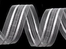 50m Transparent Gardinenband 1 Breite 25mm,
