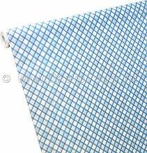 50m x 1,00m Papiertischdecke Schotten-Karo blau