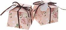 50pcs Blumen Gastgeschenk Geschenkbox Bonbon