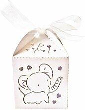 50pcs Gastgeschenk Geschenkbox Schachtel