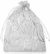 50stück Eiß Ezüst Organzasäckchen 13,5x18,5cm,