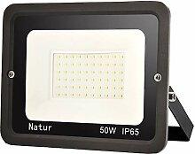 50W LED Strahler 6000K Außenleuchte Superhell LED