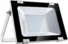 50W LED Strahler Außen, Papasbox Superhell 5000LM