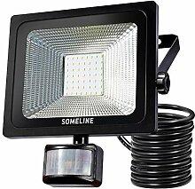 50W LED Strahler Bewegungsmelder LED Fluter