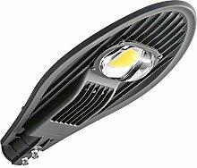 50W LED Straßenlaterne Straßenlampe Straßenleuchte Außenleuchte Kaltweiß Mastleuchte Lampe Hofbeleuchtung Laterne AC 85-265V Wasserdicht IP65