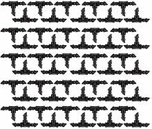 50x 47 Landwirtschaftliche Rasen Bewässerung 1/4 Zoll Barb Tropf-T-Anschlussarmatur