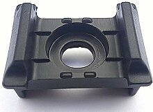 50x Kunststoffblock Anthrazit Doppelstabmattenzaun