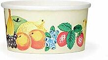 50x OCTOPUS Eisbecher, Eis- Pappbecher, Früchtebecher mit 160 ml Füllvolumen für 1 Kugel Eis