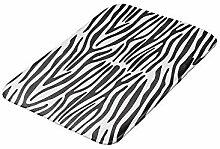 50x80 cm Black and White Zebra Print Non-Slip
