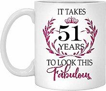 51. Geburtstagsgeschenk Für Frauen-Es Dauert 51