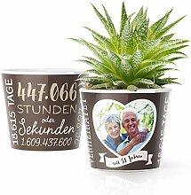 51. Hochzeitstag Geschenk – Blumentopf (ø16cm)