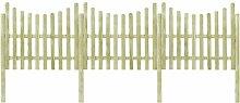 510 cm x 150 cm Gartenzaun aus Holz ClearAmbient