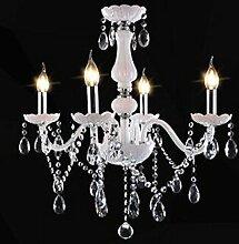 5151BuyWorld Lampe LED Weiße Moderne Kristall