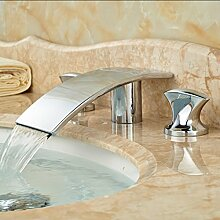 5151buyworld-Wasserhahn, Chrom/Messing, zwei