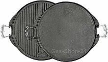 52 cm runde Grillplatte aus Gusseisen mit