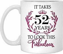 52. Geburtstagsgeschenk Für Frauen-Es Dauert 52