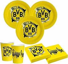 52 Teile BVB Borussia Dortmund Party Deko Set