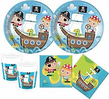 52 Teile Piraten Kinder Party Deko Set 16 Kinder