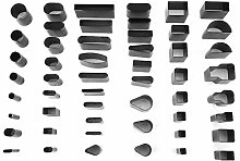 52pcs Multi Form Leder Locher Locher Werkzeuge Set