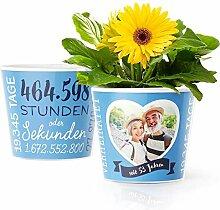 53. Hochzeitstag Geschenk – Blumentopf (ø16cm)