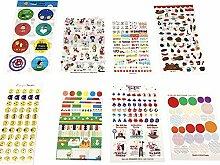 54 Blätter Emoji Kalender Aufkleber für DIY