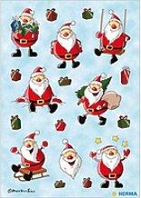 54 HERMA Aufkleber 3421 Weihnachtsmann