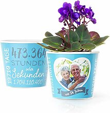 54. Hochzeitstag Geschenk – Blumentopf (ø16cm)
