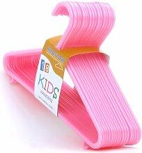 54 Kinder-Kunststoff-Kleiderbügel in Pink, für Kleinkind-Kleidung – ca. 30 cm Hangerworld