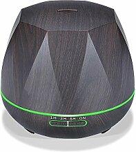 550ml Bunt Fernbedienung Aromatherapie Luftbefeuchter Ultraschall Luft Diffusor Kühler Vernebler , Deep wood grain