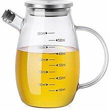 550ml Ölspender Flasche Hitzebeständige Glas mit
