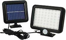 56 LED Split Außen Solar Wandleuchte PIR