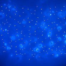 576er LED Lichtervorhang 6m x 2m blau koppelbar Typ CC, Innen Außen