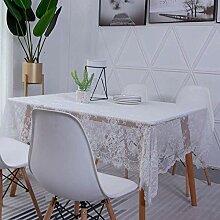 57x70zoll Klassische Weiße Spitze Tischdecke,