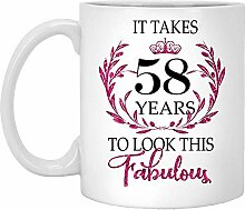 58. Geburtstagsgeschenk Für Frauen-Es Dauert 58
