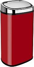 58 L Mülleimer aus Edelstahl Dihl Farbe: Rot