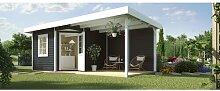 585 cm x 298 cm Gartenhaus Weka Farbe: Anthrazit