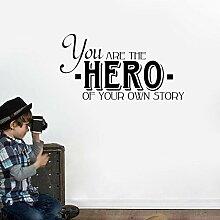 58CM * 30CM Sie sind Held Ihrer eigenen Geschichte