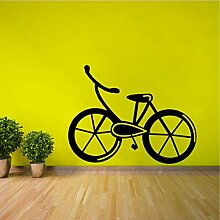 58CM * 44.7CM kühlste Fahrrad-Wand-Aufkleber