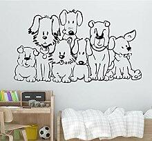 58X102cm Schöne Hunde Wandkunst Aufkleber