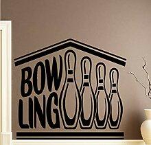 58X75cm Kreative Bowling Wandaufkleber Dekoration