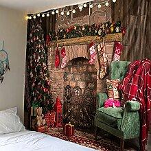 59 Zoll Weihnachtsteppich Wandbehang Weihnachten