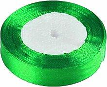 5cm 25 Meter Ripsband Geschenk Verpackungs Dekoration Weihnachtsband Singe Gesicht Grün