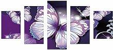 5D Diamant-Gemälde, wuayi lila Schmetterling