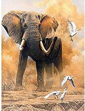 5D Diamant Malerei Elefant 30x40cm runde Diamant