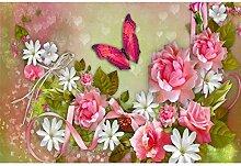 5D Diamant Malerei Schmetterling Blume Vollbohrer