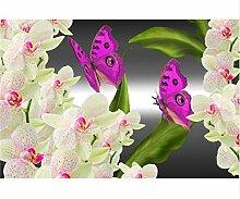 5D Diamant Malerei Schmetterling Und Rosa Blume