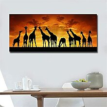 5D Diamant Malerei Set Sonnenuntergang Giraffe DIY