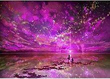 5d Diamant Painting sunnymi Night Sky DIY Stickerei Malerei Kreuzstich Kunstharz Dekoration (C)