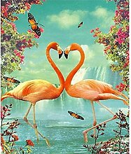 5D Diamantmalerei Flamingo DIY Volldiamant